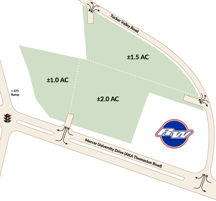 Commercial pad sites available for development in Macon, GA