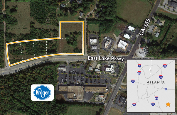 Commercial pad sites available for development in McDonough GA