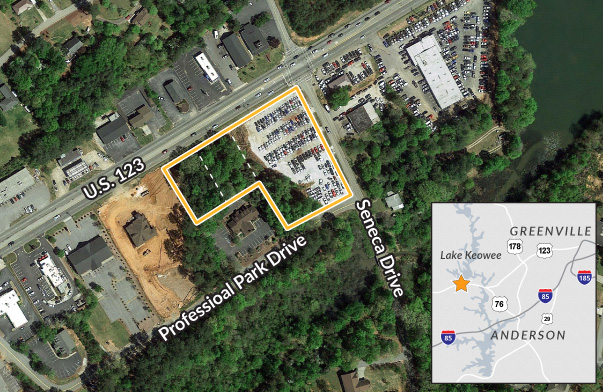 Commercial Land Available in Seneca, SC