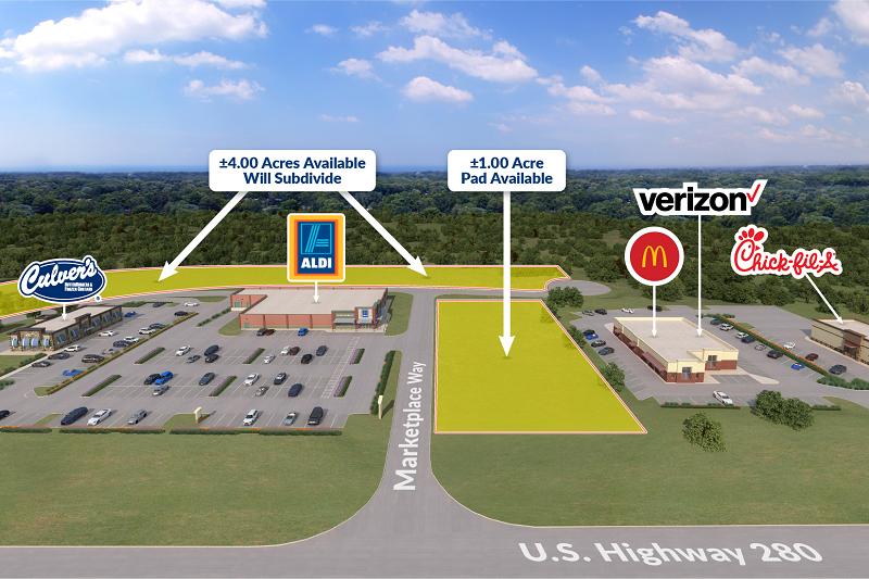 Phenix City Marketplace Aerial