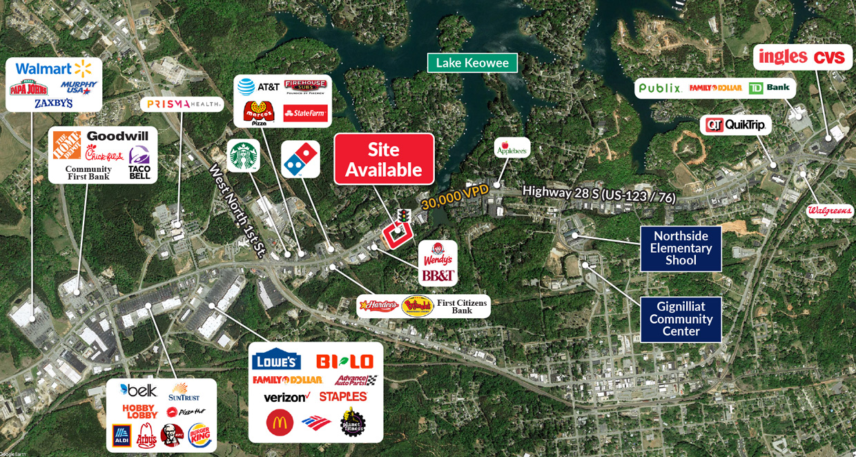 Commercial real estate build-to-suite opportunity in Seneca, SC