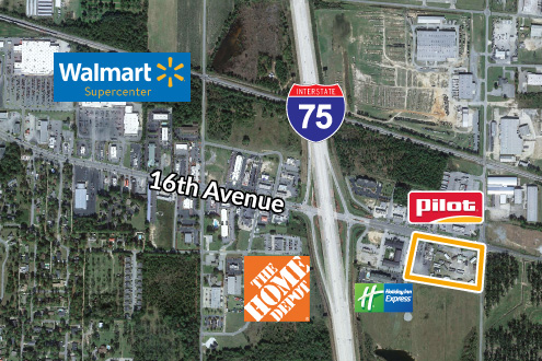 Interstate pad sites available along I-75
