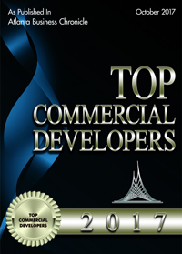 Top Commercial Developer Award given by the Atlanta Business Chronicle